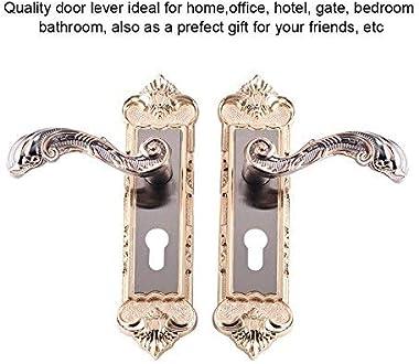 Door Lock European Style Retro Aluminum Alloy Vintage Door Locks with Handle Set Used for Interior Room Home Office Hotel