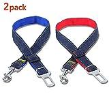 Xia peng Pet seat Belt, Dog car seat Belt, Safety Traction line, car Harness, Adjustable pet seat Belt (2PCS)