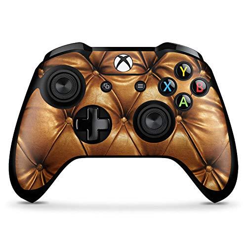 DeinDesign Skin kompatibel mit Microsoft Xbox One X Controller Aufkleber Folie Sticker Leder Muster Sofa Leder Couch Look