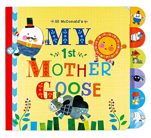 C.R. Gibson My First Mother Goose Nursey Rhyme Book for Children, 10 x 8.7 x 0.5 inches, 1 piece