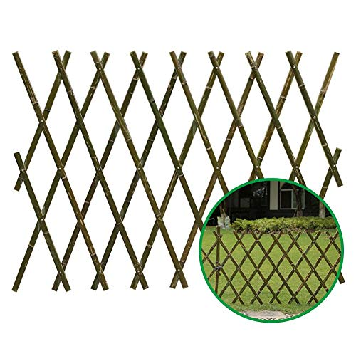 Eternitry Retractable Bamboo Fence,Expanding Bamboo Fence ,Hand-made Fence for Courtyard and Backyard.