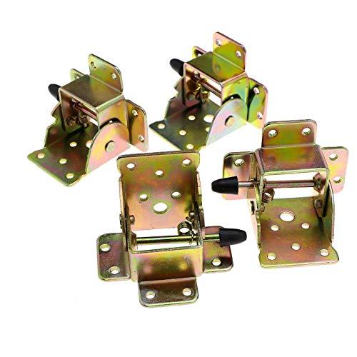 OTOTEC - Juego de 4 bisagras de hierro, plegables, con bloqueo, para patas de silla, mesa, muebles, manualidades