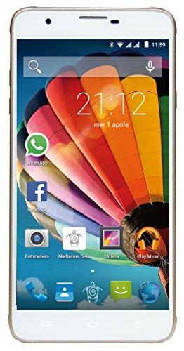 Mediacom PhonePad Duo G551 Smartphone da 8 GB, Dual-SIM, Oro