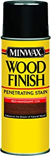 Minwax 32250000 Wood Finish Penetrates, Stains & Seals Aerosol Spray, 11.5 ounce, Red Mahogany