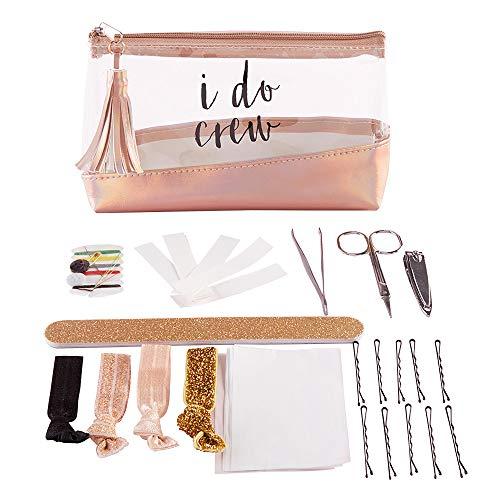 Kate Aspen 18195NA I Do Crew Clear & Rose Gold Bag Survival Kit Geschenkset, plastik, mehrfarbig