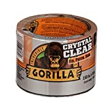 Gorilla Crystal Clear Duct Tape Tough & Wide, 2.83' x 15 yd (Pack of 1),101277