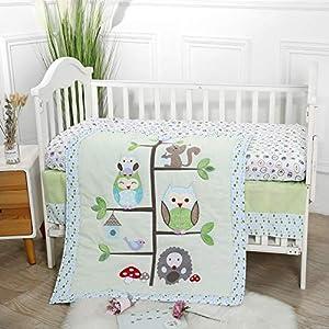 Baby Spark Happy Home Tree 3pc Soft Cotton Crib Bedding Set