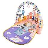 Huaxingda Alfombra de juegos para bebés, alfombrilla de juegos de actividad, alfombra de gateo, tapete de juego para jugar con música