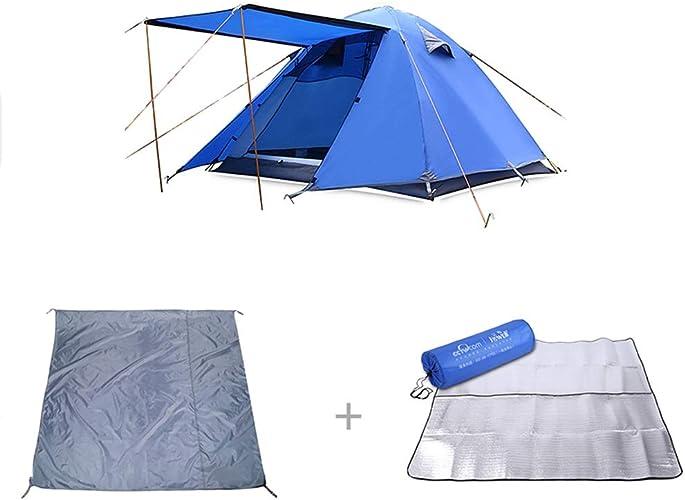 ZPBFQY FH Tente extérieure, Tente de Camping 3-4 Personnes en Aluminium, équipement de Camping, Double Tente Anti-Pluie Trois pièces