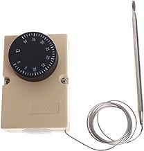 JENOR AC220V 0-40℃ Interruptor de Temperatura Capilar Termostato Controlador W Caja Impermeable