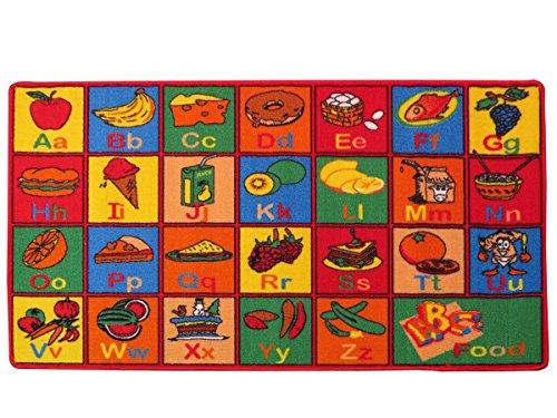 "Kids Rug ABC Fruit Area Rug 39"" X 58"" for Playroom & Nursery"