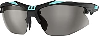 Bliz Active Unisex-Adult Hybrid ( Velo Xt Update) 52806-32 Wrap Sunglasses, Rubber Black / Rubber Turquoise-blue, 0 mm
