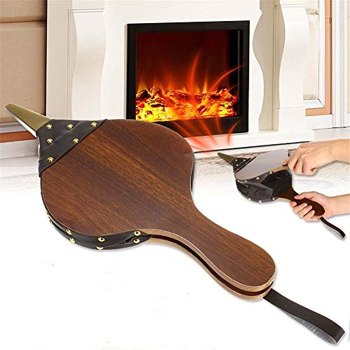 Best Review Of Fireplace Bellows, Wooden Hand Bellow Cast Nozzle, Traditional Stove Fires Lighter Fa...