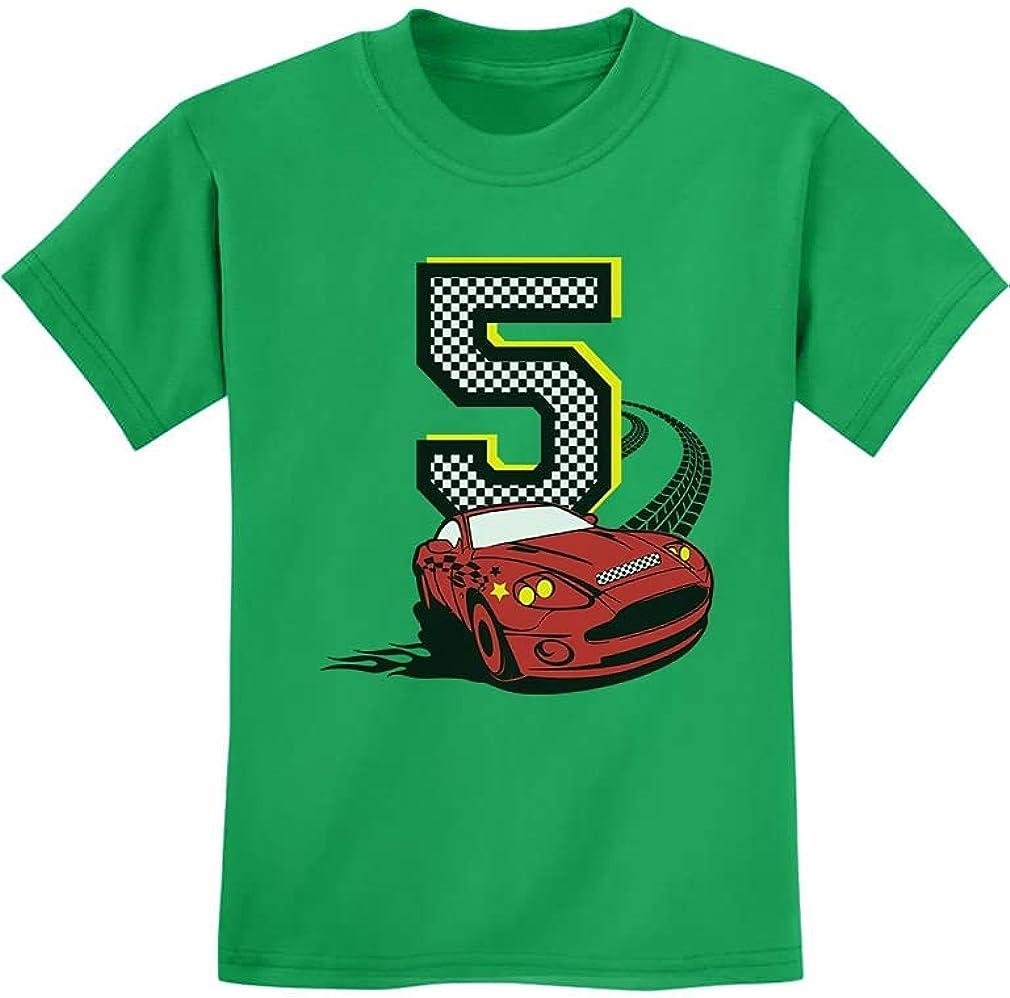 TeeStars - 5th Birthday 5 Year Old Boy Race Car Party Toddler Kids T-Shirt