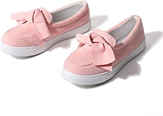 Susanny Loafers for Women Platform Sneakers Cute Bow Walking Shoes