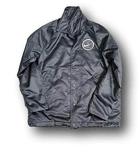 Nike Men's Sportswear AF1 Woven Varsity Jacket Black Size Medium