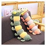 youwu 100 cm, 1 cojín de peluche para niños, 1 pieza de orugas de peluche, cojín de peluche suave, para niños y niñas, para regalos (color: rosa, altura: 65 cm)