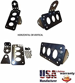 Motorcycle Side License Plate Bracket Horizontal Vertical Axle or Shock Mount Pro Factory