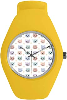 16th Birthday Decorations Practical Watch,Greeting Happy Birth Pattern with Classic Effects Artwork for Daily,Diameter(Watch face): 1.26''R