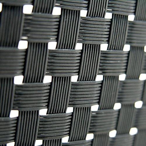 NOOR PVC Sichtschutzstreifen 0,19 x 2,55m aus Rattan in anthrazit I Zaunsichtschutz zum Einflechten in Doppelstabzäune I Winddurchlässige Zaunpaneele für Gärten