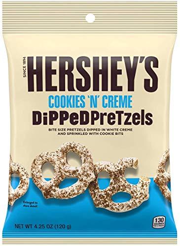Hershey's Cookies 'N' Creme Dipped Pretzels, Cookies und Creme überzogene Brezeln, 1 Stück (120g)