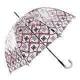 Paraguas Transparente Largo Talla: U Color: Rojo