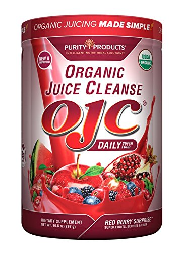 Certified Organic Juice Cleanse (OJC) - OJC Super Reds - 5 Grams Fiber, 10.5 oz (297 g)