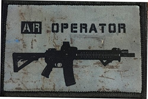 """AR Operator Morale Patch. Perfect for Your Tactical Military Army Gear, Backpack, Operator Baseball Cap, Plate Carrier or Vest. 2x3"""" Hook Patch. Made in The USA"""