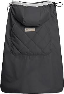 【ベビーアムール】Bebamour 抱っこひもカバー ケープ ベビーフード付き ベビーキャリアカバー 防寒ケープ 軽量 撥水 お出かけ用 出産祝い(ダークグレー)