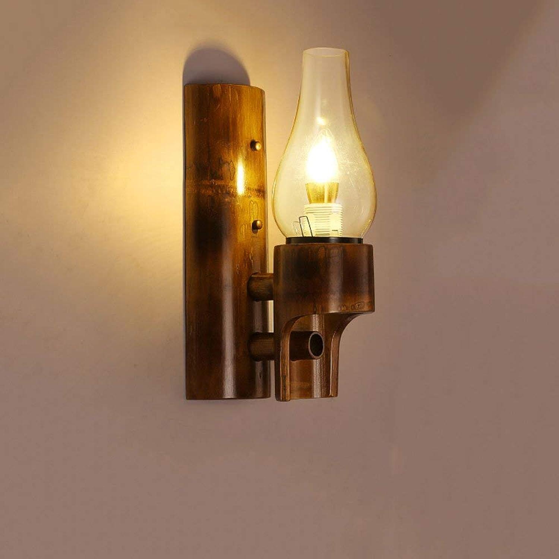 ZY  Single Head Bambus Wandleuchte Vintage Antikes Restaurant Wandleuchte Lampe Klassische Bambus Restaurant Lichter Treppenhaus Wandleuchte Wandlampen für Badezimmer Gang Bar Cafe (Farbe  Klar)