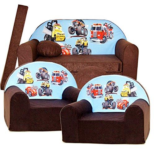 Barabike K14 kit de Lot, Mini pour Enfants, bébé Lot de 3 pour Enfants Canapé + 2 Fauteuil pour Enfant