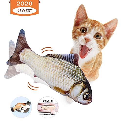 Namsan Elektrische Fische Katze Katzenminze Spielzeug Fisch Interaktives Fischspielzeug Plüsch Fisch Kicker Katzenspielzeug