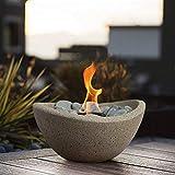 Terra Flame OD-TT-WAV-BGE-03N Fire Bowl, Stone...