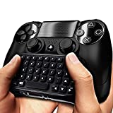PS4 Controller Keyboard, Megadream Wireless Mini Gaming Online Message Chat Keypad Chatpad for Sony Playstation PS4, PS4 Slim, PS4 Pro Controller - Black