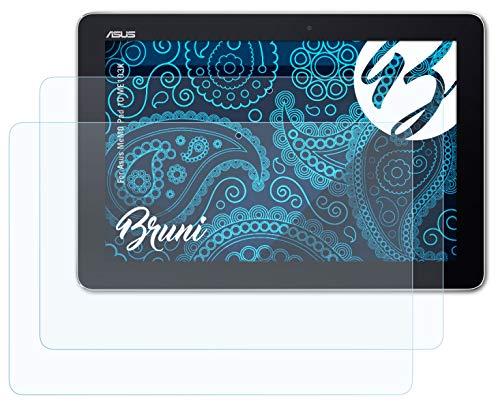 Bruni Schutzfolie kompatibel mit Asus MeMO Pad 10 ME103K Folie, glasklare Bildschirmschutzfolie (2X)
