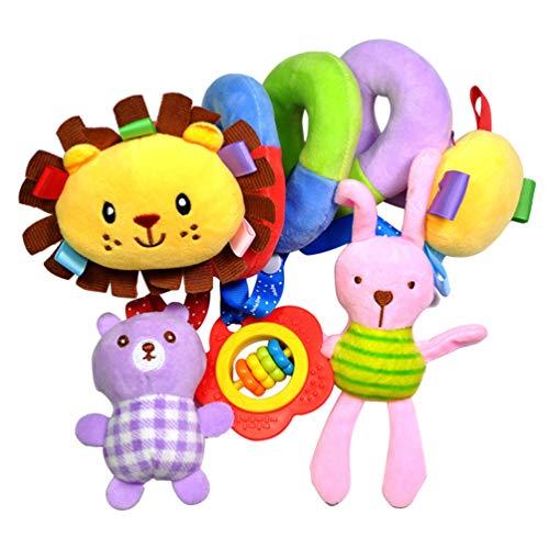 Gadpiparty Asiento de Coche para Bebé Juguete de Cuna Cochecito de Juguete Juguete Móvil de Felpa en Espiral Juguetes Colgantes para Bebé Educación Temprana ( León )