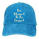 Too Blessed To Be Cursed Sombrero, Gorra de béisbol Ajustable Hombres Mujeres Gorra de Camionero de algodón Lavable Sombrero de papá
