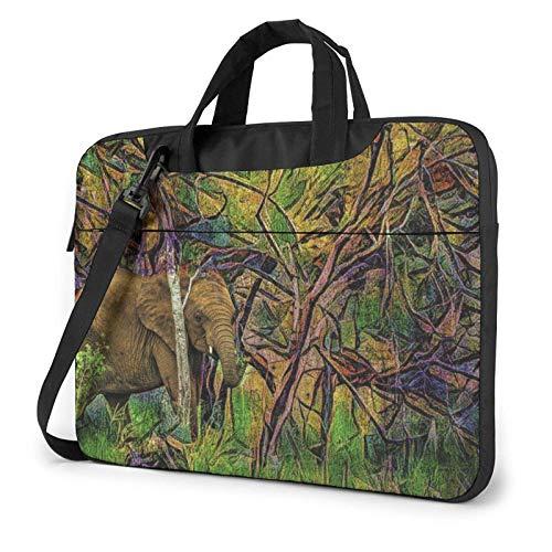 Psyche-delic Ele-phant Laptop Tote Bag Compatible with 13-15.6in Laptop MacBook Pro Carrying Shoulder Handbag Briefcase
