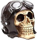 TKYZYY Escultura tamaño 1: 1 Modelo Vida cráneo Adorno réplica estatuas médicas esculturas Resina Halloween decoración del hogar