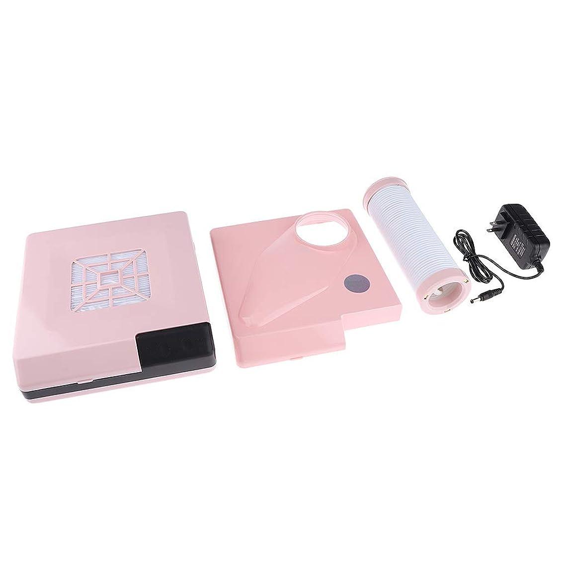 キリマンジャロ発生する一晩B Blesiya ネイルダストコレクター 60W ネイルサロン プロ 2色選べ - ピンク