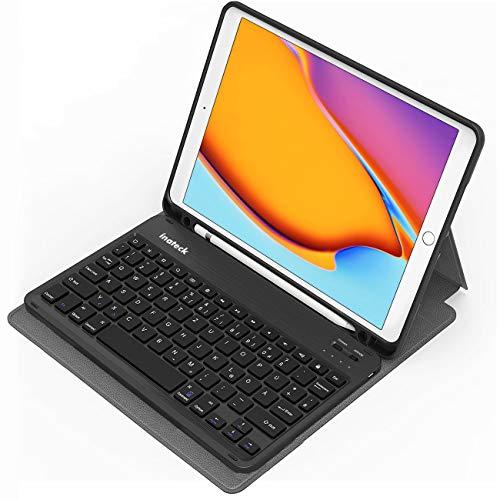 Inateck Tastatur Hülle für iPad 2020(8th Gen)/iPad 2019(7th Gen) 10.2 Zoll, iPad Air 3 & iPad Pro 10.5, abnehmbar, mit Displayabschaltung,QWERTZ, KB02012,Dark Gray