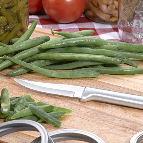 Rada Cutlery Paring Knife Set 3 Knives with Stainless Steel Blades and Brushed Aluminum Made in The USA, 7 1/8