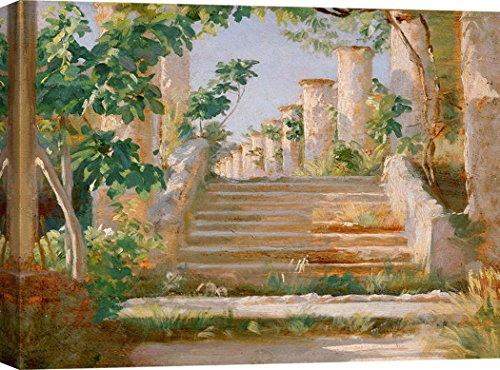 Art Print Cafe – Decoration Murale, Tableau de Peder Severin Krøyer, Loggia in Ravello – Impression sur Toile 100x70 cm