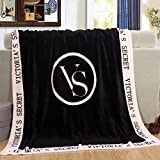 VS Pink Soft & Luxurious Throw Blanket (Pink & Black)