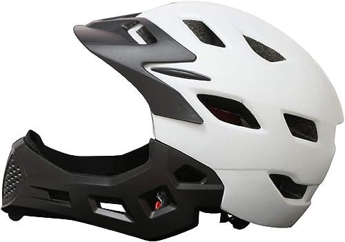 SKINGO Casque Vélo Enfant Casque de Intégral Casque Complet de BMX 50-57cm Anti-Choc Ajustable Amovible