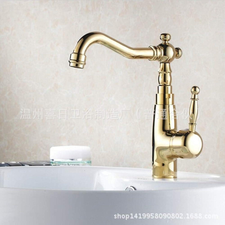 Floungey BadinsGrößetionen Waschtischarmaturen küchenarmaturen Warmes Und Kaltes Titanhahn-Spülbeckenhahn des Badezimmerbadezimmers Drehbares Becken Heier Und Kalter