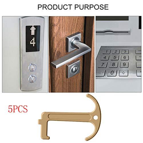Clé de sécurité sans contact Clean-Key Ouvre-porte crochet de protection EDC Opener, 5 pcs
