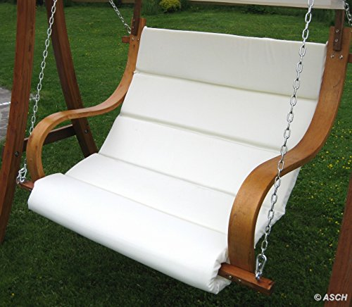 ASS Design Sitzbank für Hollywoodschaukel SEAT-MERU aus Holz Lärche inkl. Dach (ohne Gestell!!) von - 5