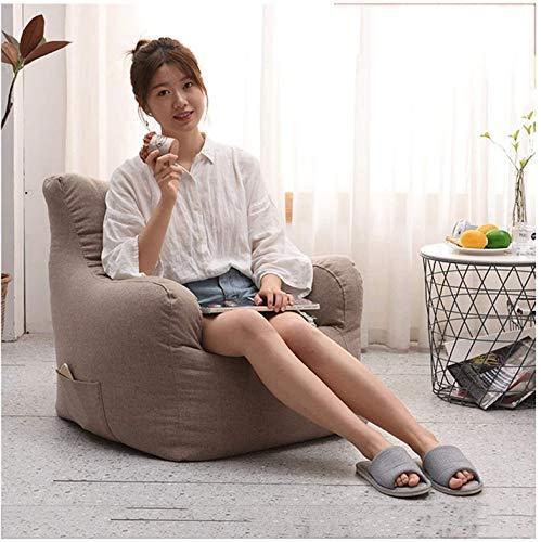 Desk Chairs DBL Cubierta de la Sala Bean Bag Resistente al Agua salón o Silla for Juegos Las sillas de Escritorio (Color : 80 * 78 * 63cm, Size : Brown)