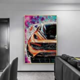 Cuadro de Lienzo Modular, póster temático de Carreras, imágenes de decoración del hogar Frescas del Coche, póster Impreso Moderno para el Arte de la Pared de la Sala de Estar 50x70cm-Sin Marco